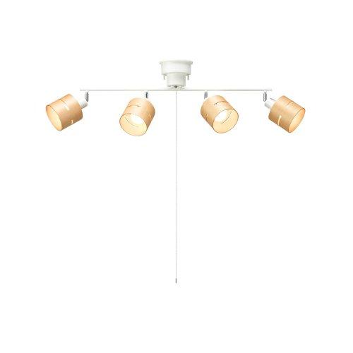 ヤザワ シーリングライト 4灯 CEX60X01NA ナチュラル