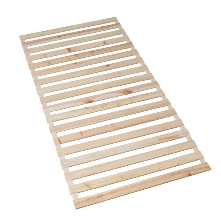 檜すのこベッド ロール式 シングル すのこベッドの写真