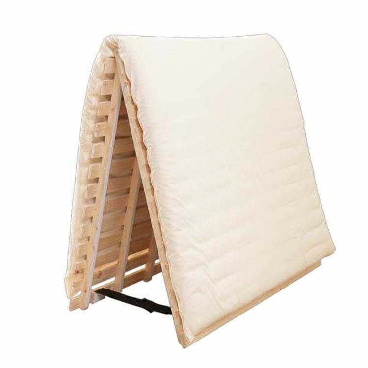 檜すのこベッド 2つ折り セミダブル すのこベッドの写真