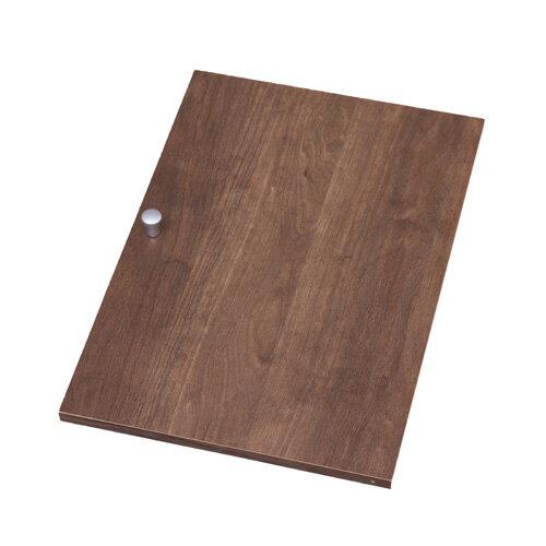アイリスオーヤマ カラーボックス用 木製扉 幅26.9×奥行3.4×高さ38.4cm ブラウン 横置き専用 CXD-27W