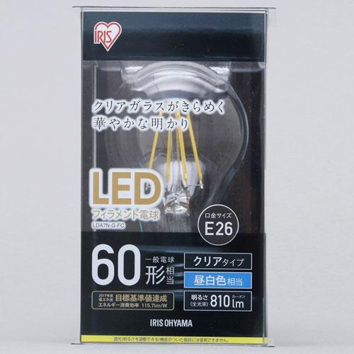 アイリスオーヤマ 調光器非対応LED電球 一般電球形・全光束810lm/昼白色・口金E26 LDA7N-G-FC