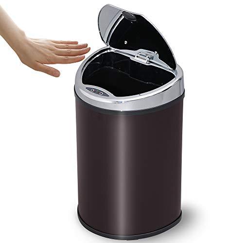 アイリスプラザ ゴミ箱 自動 開閉 センサー付 48L ブラウン -の写真