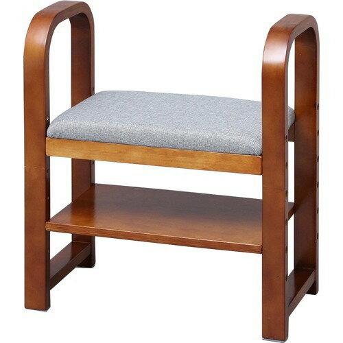 アイリスオーヤマ 玄関椅子 GC-55 ブラウン(1コ入)の写真