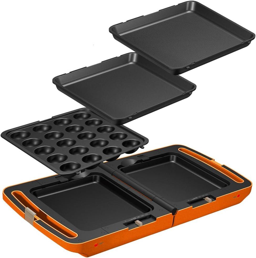 アイリスオーヤマ 両面ホットプレート DPO-133-D オレンジ(1台)