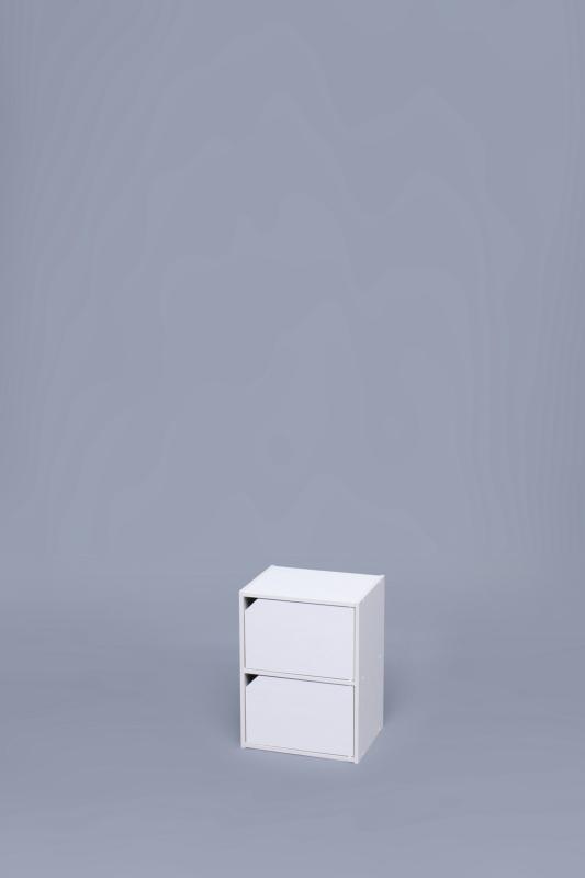 モジュールボックス扉付 MDB-2D オフホワイトナチュラルウォールナットブラウン