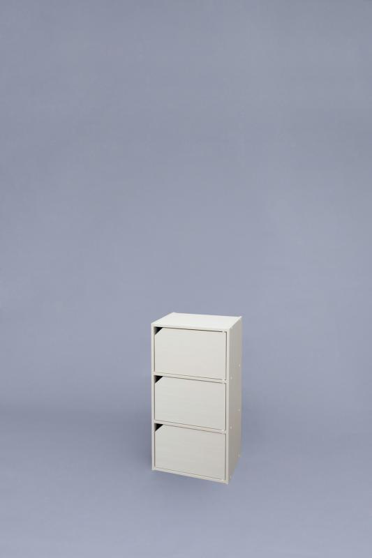 カラーボックス 3段 扉付き モジュールボックス扉付 MDB-3Dの写真
