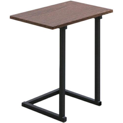 サイドテーブル SDT-45 ブラウンオーク ブラック テーブル 机 木製 木目調の写真