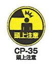 カーボーイ サインキャッププレート 頭上注意 CP-35 7918600