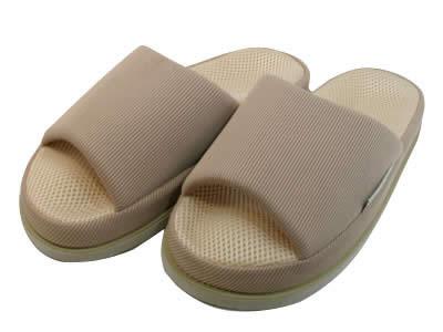 足で癒すリフレクソロジースリッパ リフレ ベージュ Mサイズ(1足)