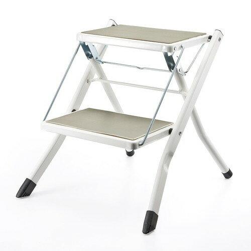 はしご ステップ台 おしゃれ 昇降台 椅子 滑り止め付 (150-SNCH001)の写真