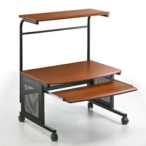 パソコンデスク ロータイプ  (W750) (木目柄) (100-DESK009)の写真