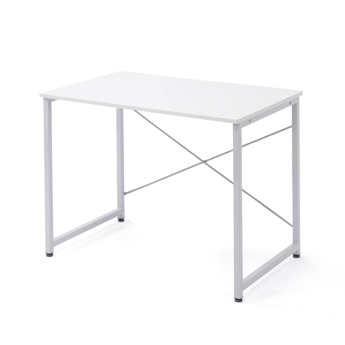 シンプルワークデスク オフィスデスク  幅 奥行  シンプルなホワイト天板 平机 パソコンデスク フリーアドレス 100-deskf012の写真