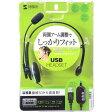 サンワサプライ USBヘッドセット 片耳オーバーヘッドタイプ MM-HSUSB13BKN