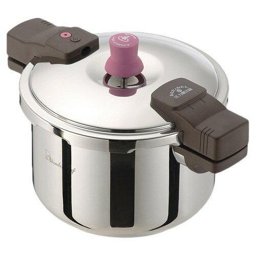 ワンダーシェフ あなたと私の圧力魔法鍋 両手圧力鍋 5.5L(1コ入)の写真
