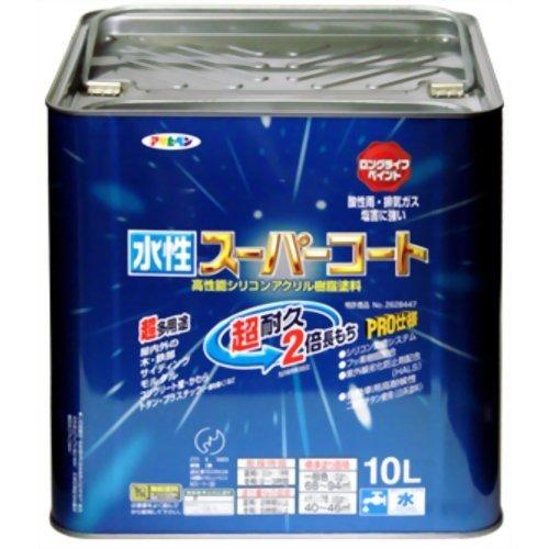 アサヒペン 水性スーパーコート ミルキーホワイト(10L)