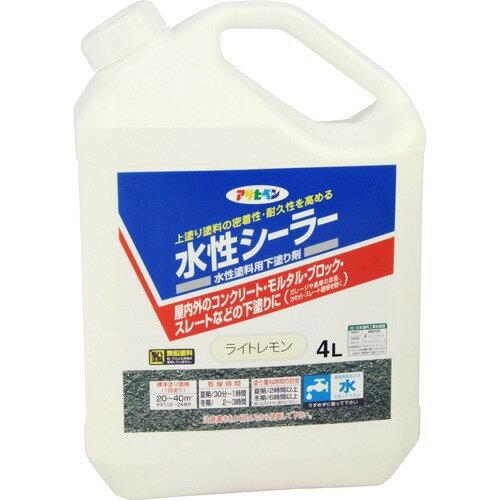 アサヒペン 水性シーラー ライトレモン(4L)