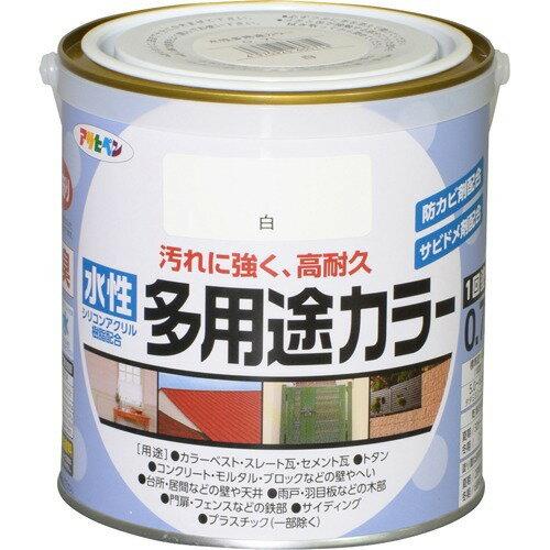 アサヒペン 水性多用途カラー 0.7L 白 460714