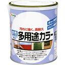 アサヒペン 水性多用途カラー ツヤケシクロ 1.6L