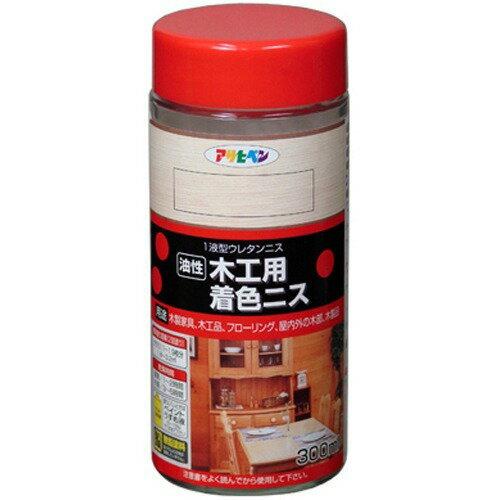 アサヒペン 油性木工用着色ニス 透明(クリヤ)(300ml)