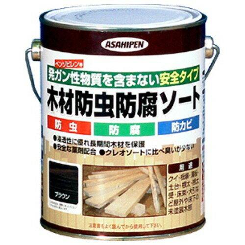 アサヒペン 木材防虫防腐ソート ブラウン(1L)の写真