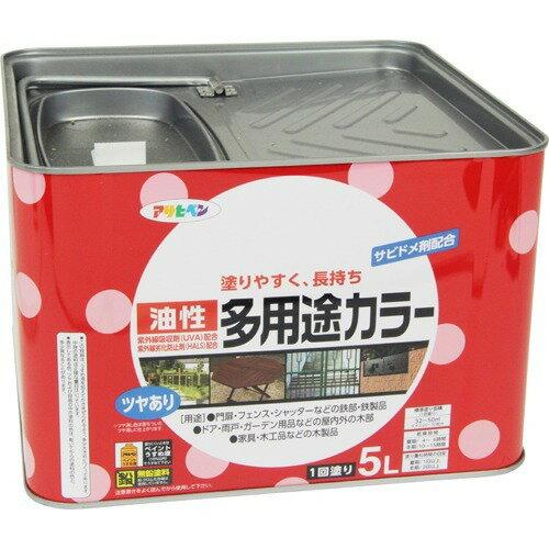 アサヒペン 油性多用途カラー シロ(5L)