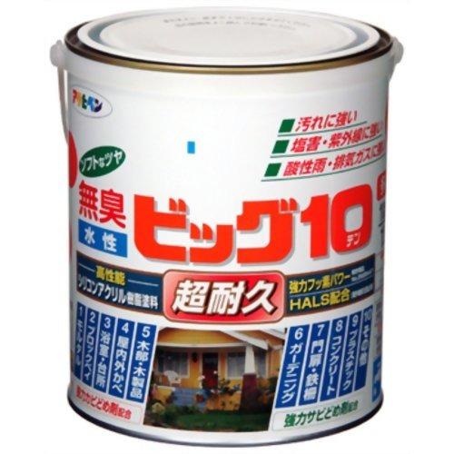 アサヒペン 無臭 水性ビッグ10 パステルオリーブ(0.7L)