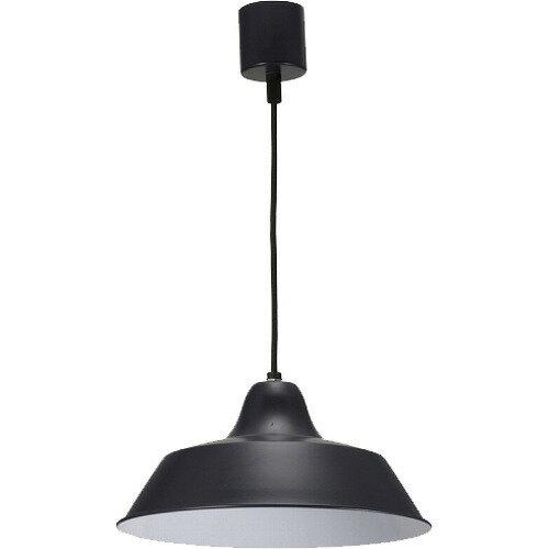 OHM LEDペンダントライト ダイニング食卓照明 ブラック 黒 スチール 60W用 電球別売 LT-Y10AW-K 06-1494 オーム電機の写真