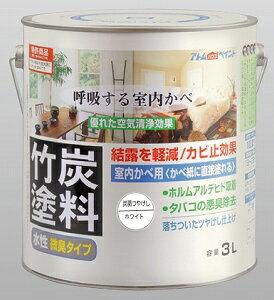 アトムハウスペイント 水性竹炭塗料 炭調ホワイト 3L