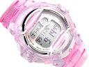 【CASIO Baby-G】カシオ ベビーG 海外専売モデル レディースデジタル腕時計 ピンクダイアル スケルトンピンクウレタンベルト BG-169R-4DR画像