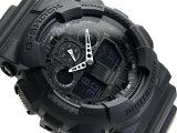 CASIO G-SHOCK アナデジ腕時計 マットブラック つやなしウレタンベルト GA-100-1A1