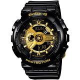 Casio 腕時計 Baby-G ビッグケースシリーズ ブラック×ゴールド BA-110-1AJF