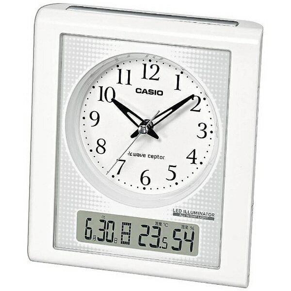 カシオ 電波置時計 ホワイト TQT-351NJ-7BJF(1コ入)の写真