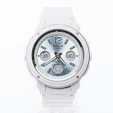 カシオ ベビーG 逆輸入海外モデル レディースデジタル腕時計 シャンパンブルーダイアル ホワイトウレタンベルト BGA-150-7B2DR