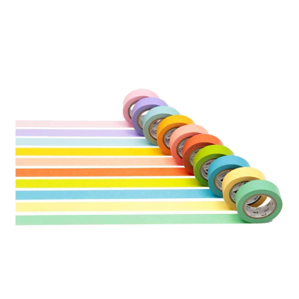(カモ井加工紙)マスキングテープmt 10色セット(明るい色 2) MT10P003
