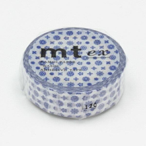 (単色1巻・15mm幅×10m)マスキングテープ(mt)(小花・活字)MTEX1