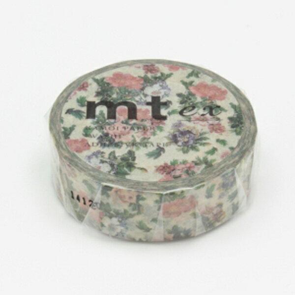 (単色1巻・15mm幅×10m)マスキングテープ(mt)mt ex(小花・ボタニカルアート)MTEX1