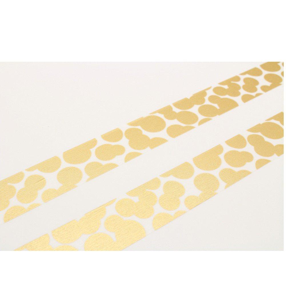 カモ井加工紙 mtマスキングテープ ×ミナペルホネン soda water・gold MTMINA32