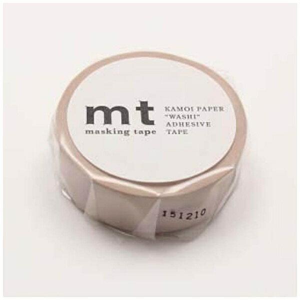 カモ井加工紙 mtマスキングテープ 1P パステルブラウン MT01P311