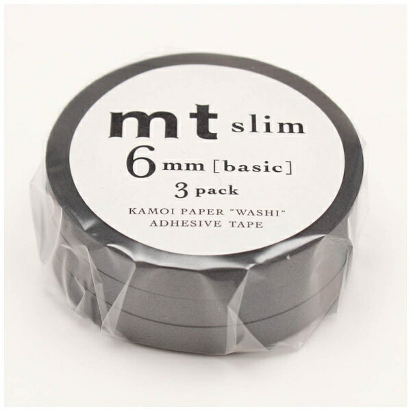 カモ井加工紙 mtマスキングテープ slim L マットグレー MTSLIM24