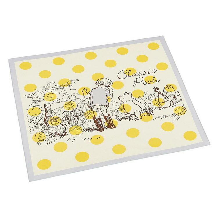 くまのプーさん ランチクロス 大判コットンナフキン クラシックプー カラードット ディズニー スケーター 52×53cmの写真