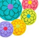 SDS 「サンフラワー」 Sun Flower フリーマット (Mサイズ/58Rcm) (バスマット/トイレマット/アクセントマット/玄関マット/インテリアマット)