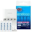 SANYO eneloop(エネループ) 残量チェック機能付急速充電器セット 単3形・単4形兼用 単3形充電池4個付 N-TGR03AS