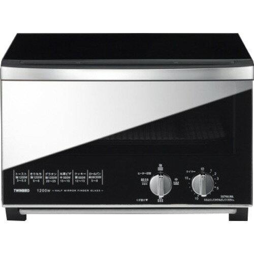 ツインバード ミラーガラスオーブントースター ブラック TS-D048B(1台)の写真