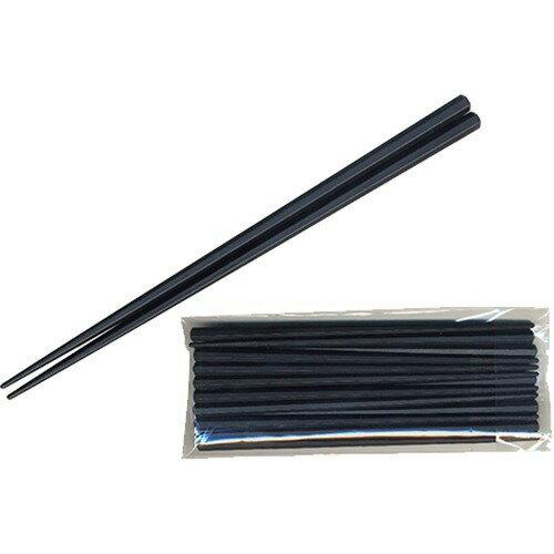 業務用SPS製 リユース箸 六角 黒 23cm(10膳)の写真