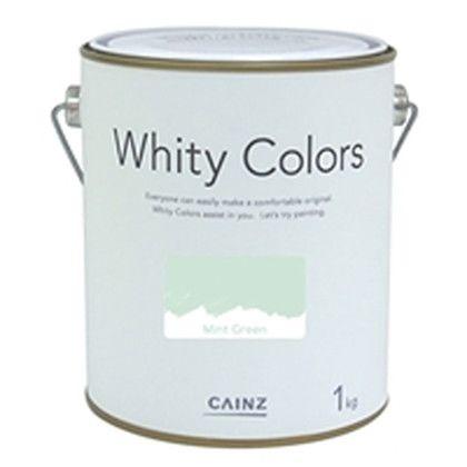 カインズ ホワイティーカラーズ 水性塗料 室内用 ミントグリーン 1kg