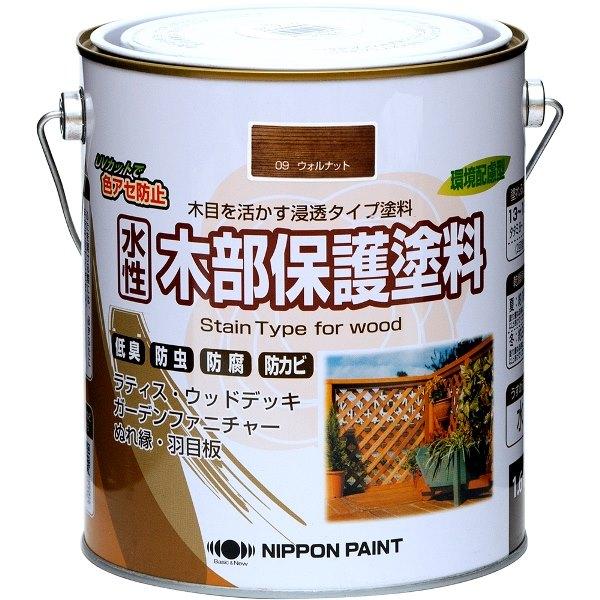 ニッペホームプロダクツ ニッペ 水性木部保護塗料 1.6L ウォルナット