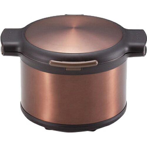 エコック 真空保温調理鍋3.2L H-8100 ブラウンの写真