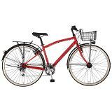 MARUKIN27型 自転車 ノスタリア276-G レッド/6段変速 MK-14-025 MK14025