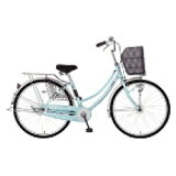 MARUKIN26型 自転車 レイニーホームHD261-G ライトブルー/シングルシフト MK-14-047 レイニーホームHD261G