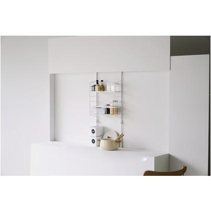 キッチン 突っ張り ラック /SPLUCE スプルース スリムポールラック メッシュset M SPL-4/の写真